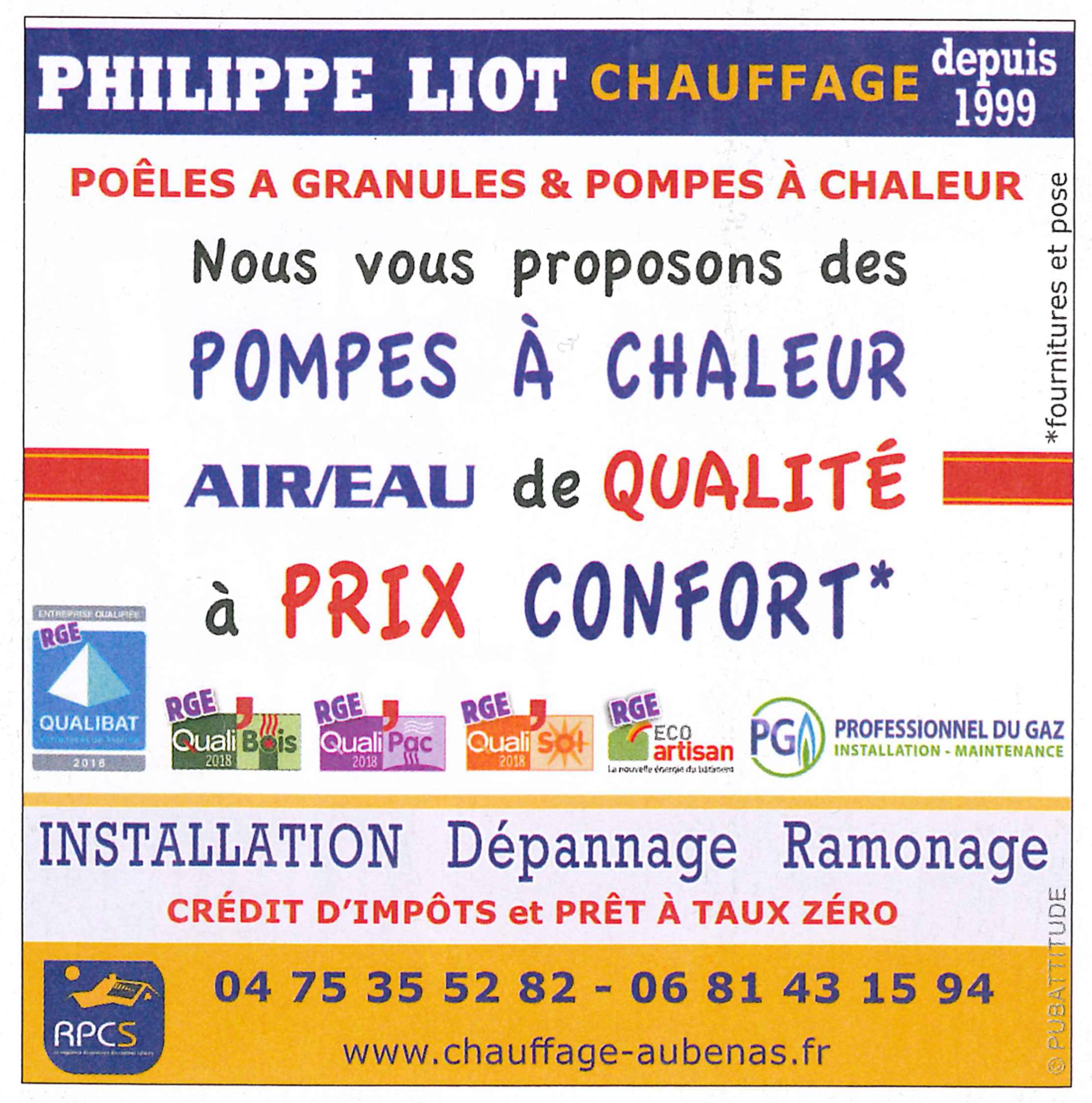 Philippe Liot Chauffage prix confort 2019